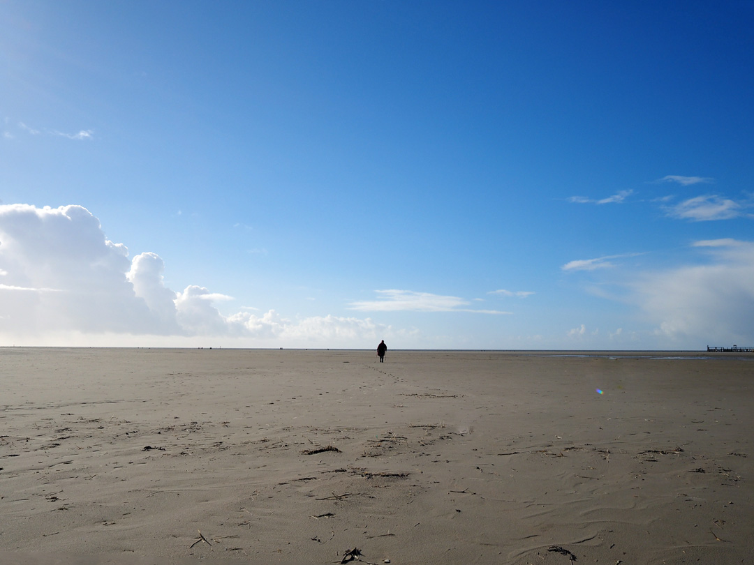 St. Peter Ording, Februar 2017, Nordic Walking
