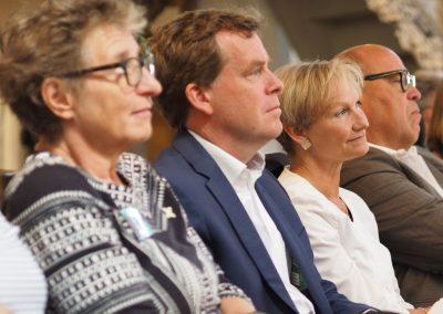 Präventionsausstllung Echt Mein Recht! Ursula Schele, Ulf Kämpfer, Kirsten Fehrs, Dr. Ulrich Hase in der Nicolaikirche zur Eröffnung der Präventionsausstellung Echt mein Recht!