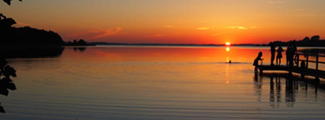 Sonnenuntergang am Seekrug, Sommer 2016